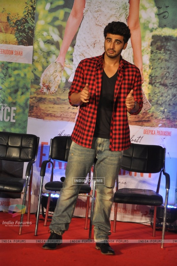 Arjun Kapoor poses for the media at the Song Launch of Finding Fanny