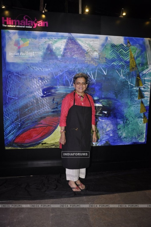 Brinda Miller showcases her work of art inspired by the Himalayas