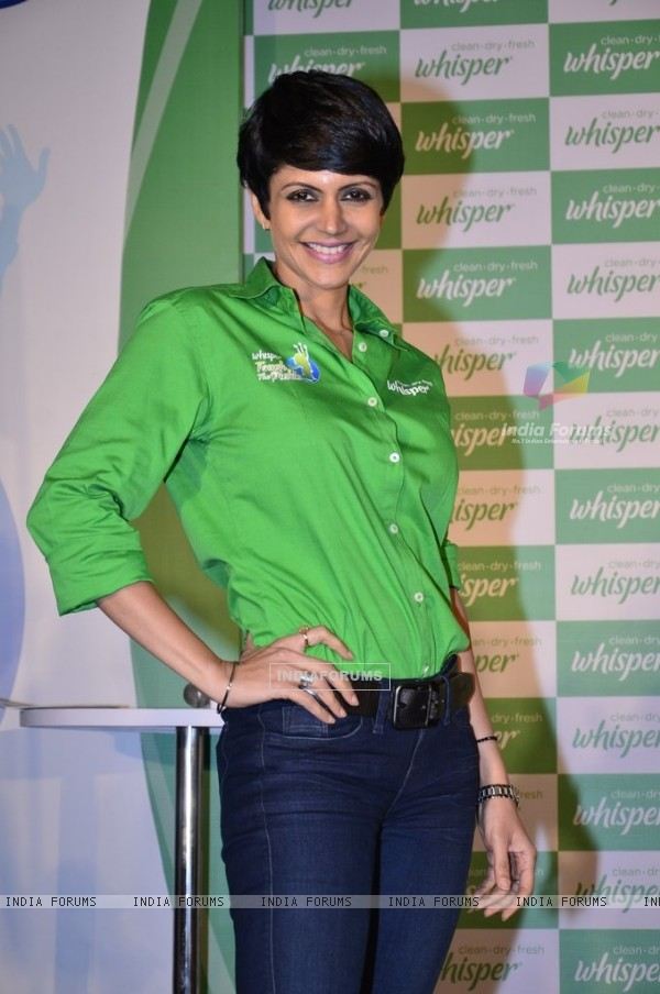 Mandira Bedi poses for the media at 'End of Period Taboos' Event