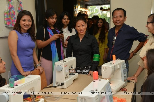 Mary Kom was at The Hab promoted by Usha International