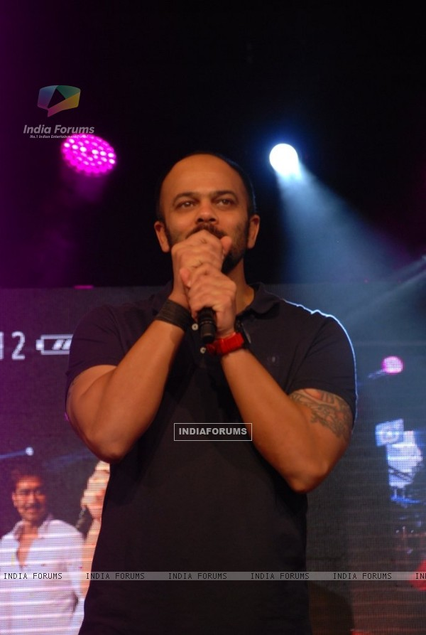 Rohit Sheety addresses the students at the Promotions of Singham Returns