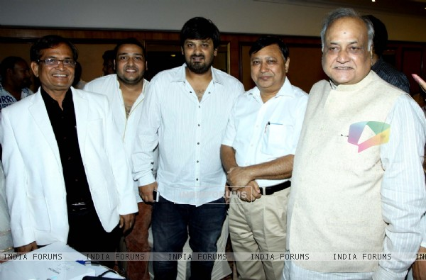 Wajid Ali was spotted at the Launch of Star Studded National Anthem by Film Maker Raajeev Walia