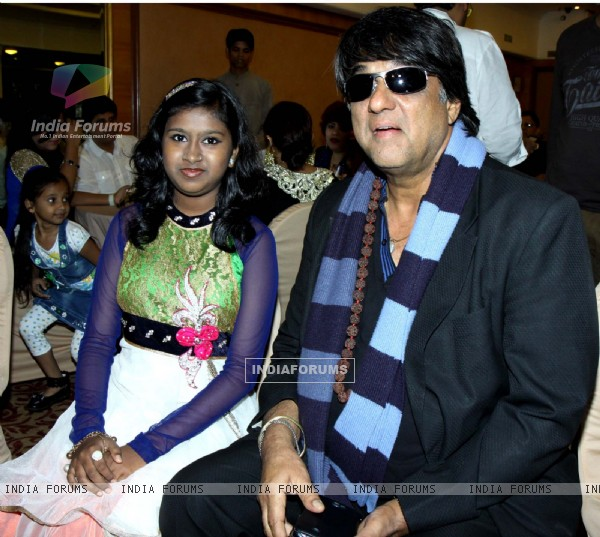 Sanchiti Sakat and Mukesh Khanna at the Launch of Star Studded National Anthem