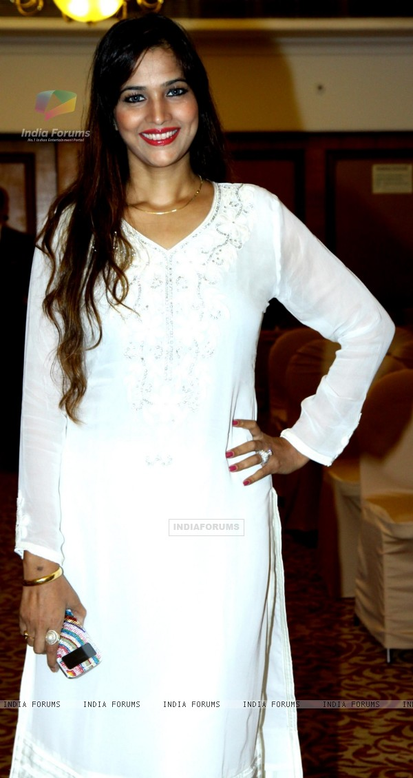 Tanisha Singh was at the Launch of Star Studded National Anthem by Film Maker Raajeev Walia