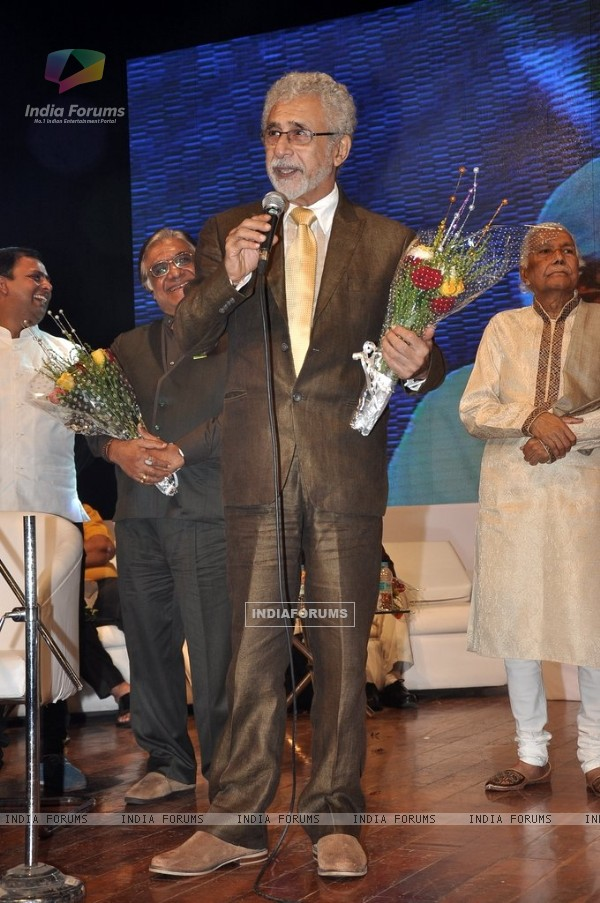 Naseeruddin Shah addresses the Poetry Festival Organised by Ahtesab Foundation