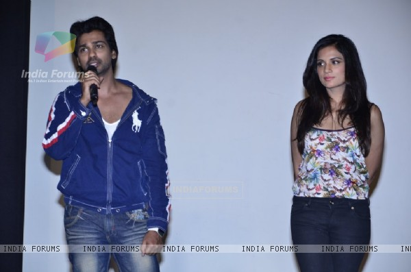 Nikhil Dwivedi addresses the media at the Promotions of Tamanchey