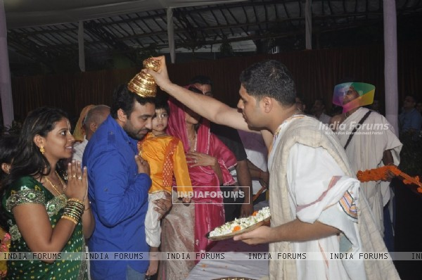 Raj Kundra seeks blessings from Lord Krishna at the Isckon Temple on Janmashtami