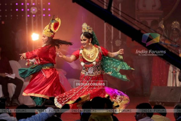 Gracy Singh performs at the Dahi Handi Celebration in Mumbai