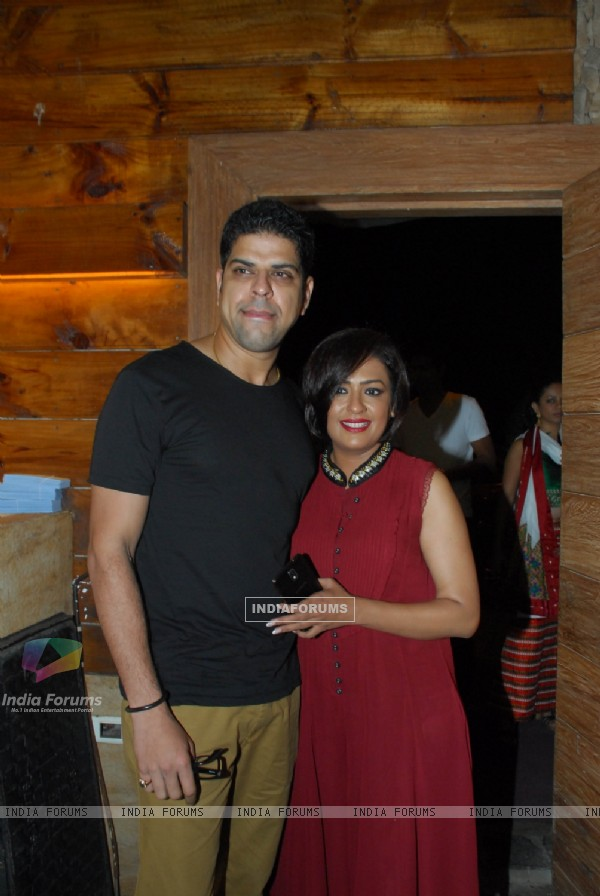 Murli Sharma along with Ashwini Kalsekar at the Success Bash of Poshter Boyz