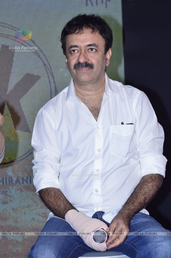 Rajkumar Hirani was snapped engrossed in a thought at the Second Poster Launch of P.K.