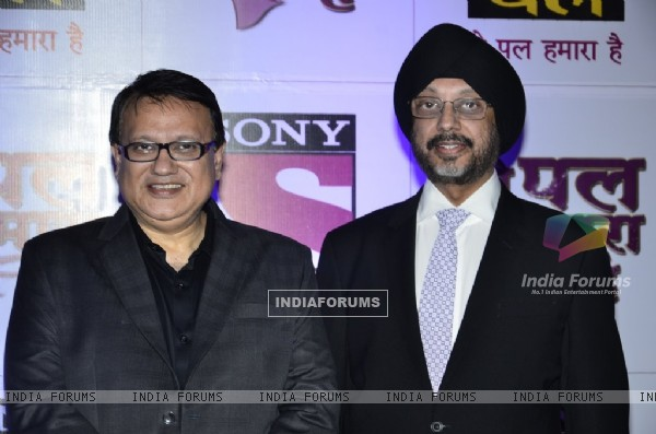 Anuj Kapoor and N P Singh at the Red Carpet of Sony Pal Channel