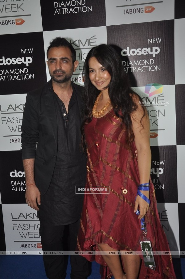 Shraddha Nigam and Mayank Anand at the Lakme Fashion Week Winter/ Festive 2014 Day 3