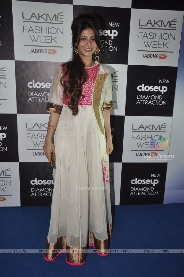 Tanishaa Mukerji was seen at the Lakme Fashion Week Winter/ Festive 2014 Day 3