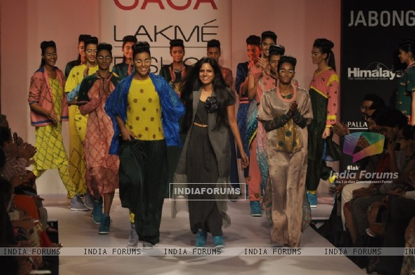 Tanya Sharma showcases her collection Gaga, at the Lakme Fashion Week Winter/ Festive 2014 Day 4