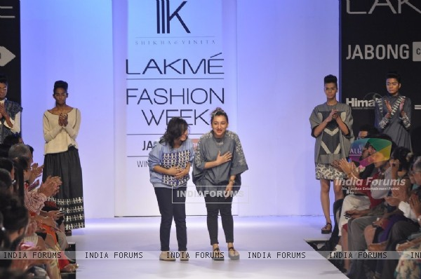 Shikha & Vinita showcase their collection, Ilk, at the Lakme Fashion Week Winter/ Festive 2014 Day 4