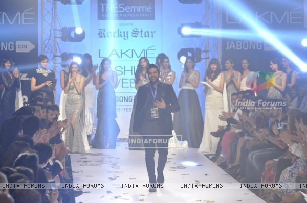Rocky Star showcases his collection at the Lakme Fashion Week Winter/ Festive 2014 Day 4