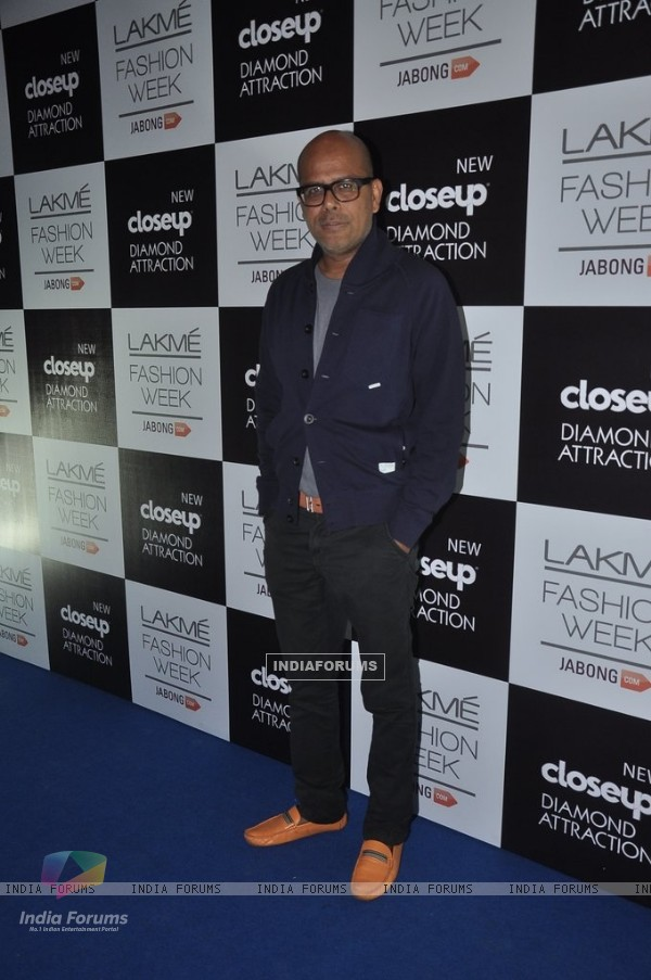 Narendra Kumar was at the Lakme Fashion Week Winter/ Festive 2014 Day 4