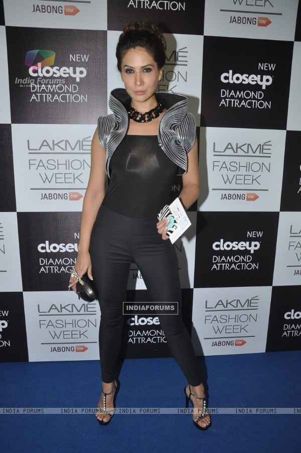 Kim Sharma was seen at the Lakme Fashion Week Winter/ Festive 2014 Day 5