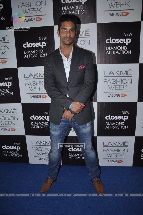 Angad Bedi at the Lakme Fashion Week Winter/ Festive 2014 Day 5
