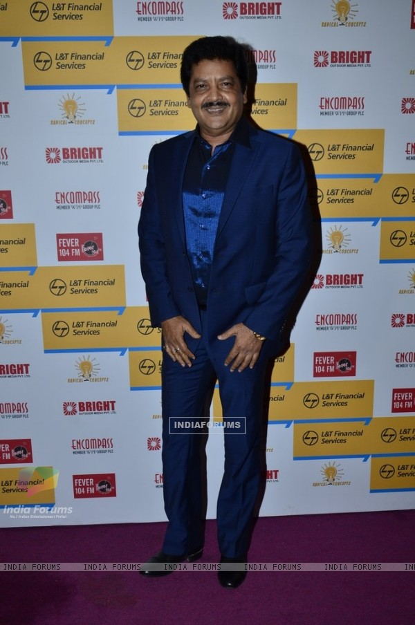 Udit Narayan poses for the media at Shaan's Live Concert