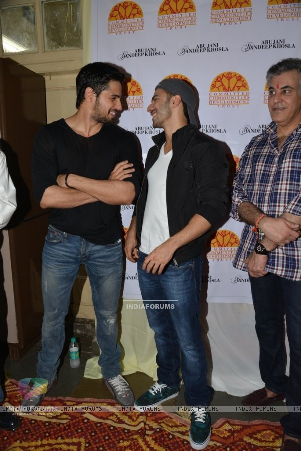 Varun Dhawan and Sidharth Malhotra share a laugh