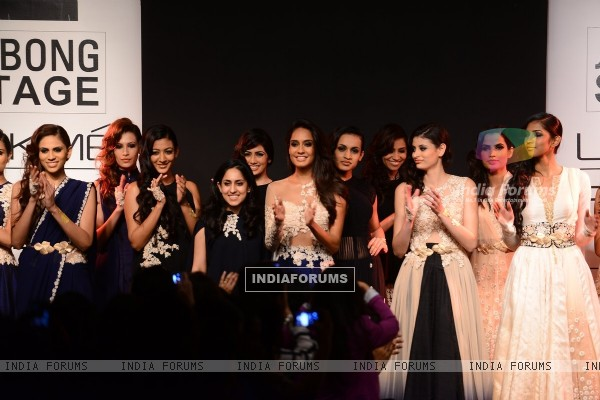 Ridhi Mehra showcases her collection at the Lakme Fashion Week Winter/ Festive 2014 Day 6