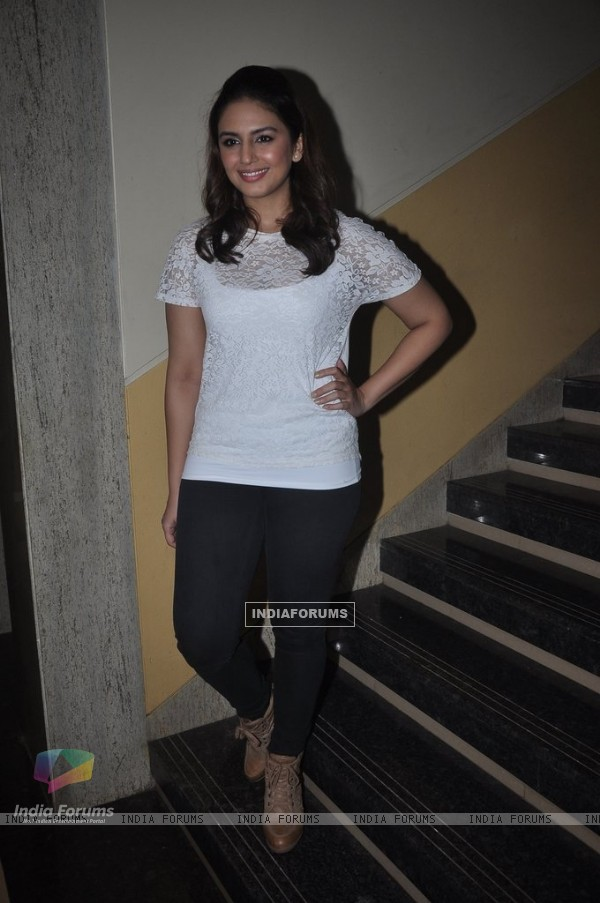 Huma Qureshi poses for the media at Jamnabai Narsee School's Cascade Festival