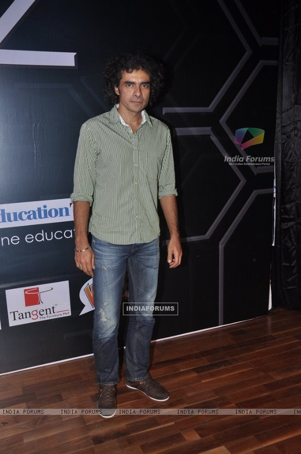Imtiaz Ali poses for the media at Jamnabai Narsee School's Cascade Festival