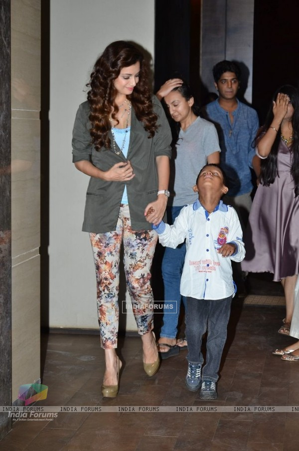 Dia Mirza was snapped with a small kid at the Short Film Launch
