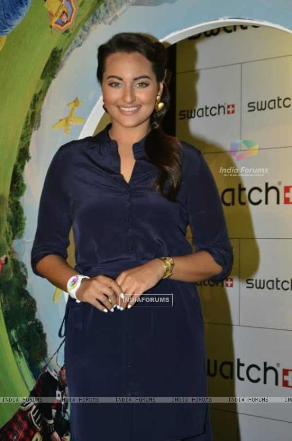 Sonakshi Sinha was at the Launch of Swatch AW'14 Collection