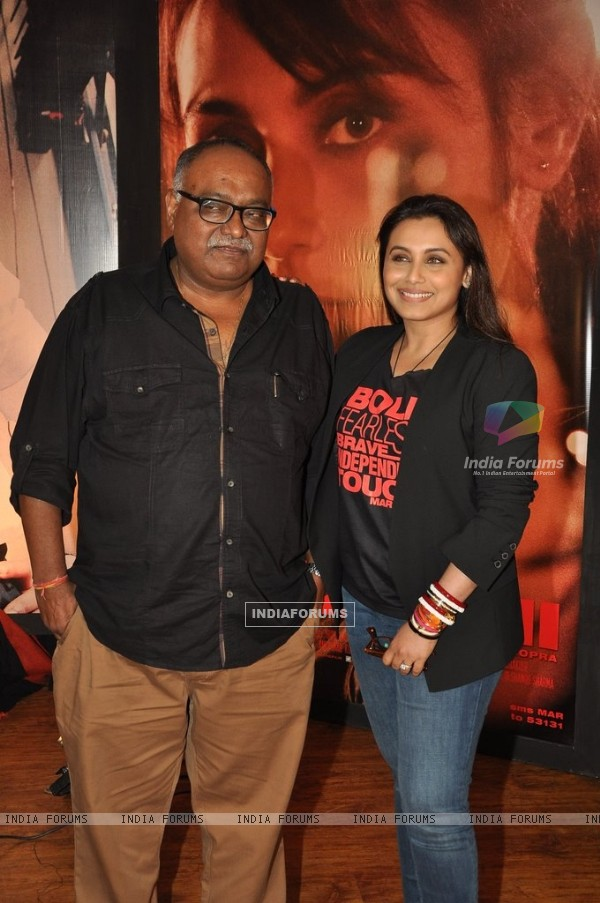 Rani Mukherjee and Pradeep Sarkar at the Press Conference of Mardaani