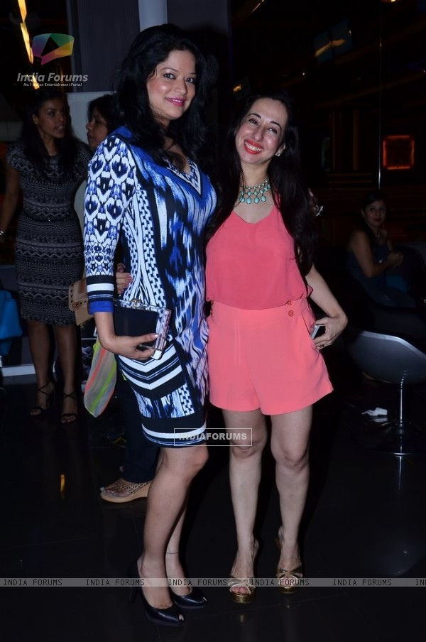 Arzoo Govitrikar poses with a friend at Power Women Fiesta