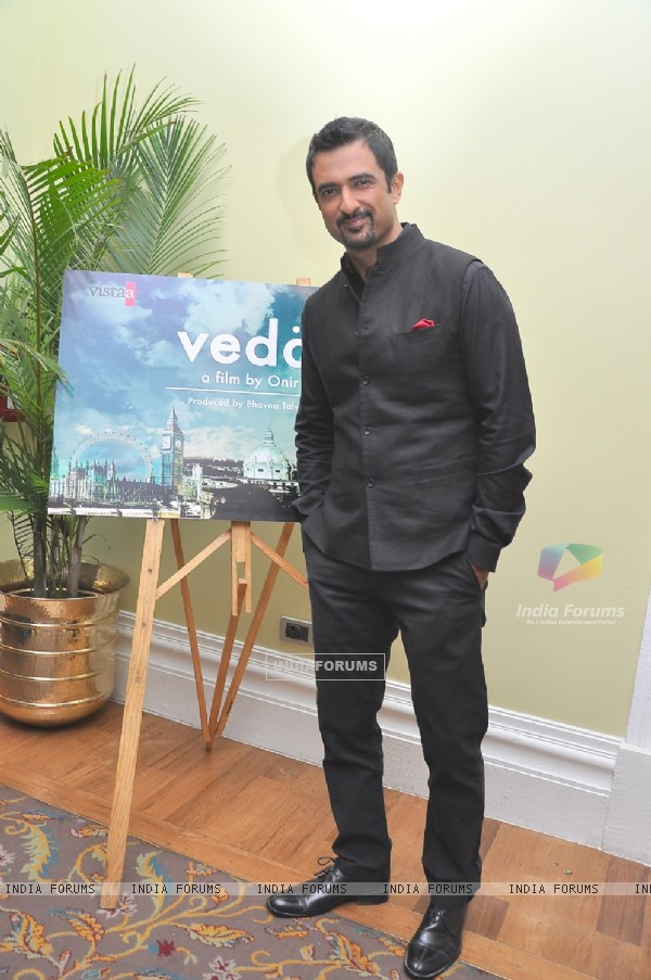 Sanjay Suri poses for the camera at the Mahurat of the Movie 'Veda'