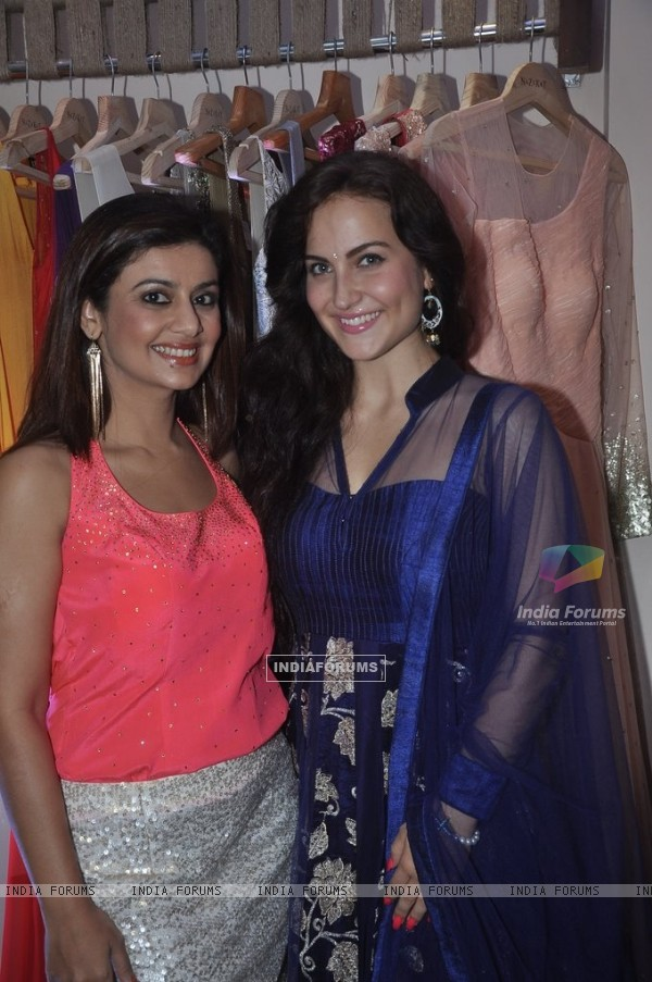 Salima Lalani with Elli Avram at the Launch of Winter Festive Collection at Nazakat Store