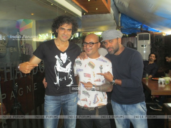 Imtiaz Ali , Bosco Martis and Aalim Hakim at his Surprise Birthday Bash