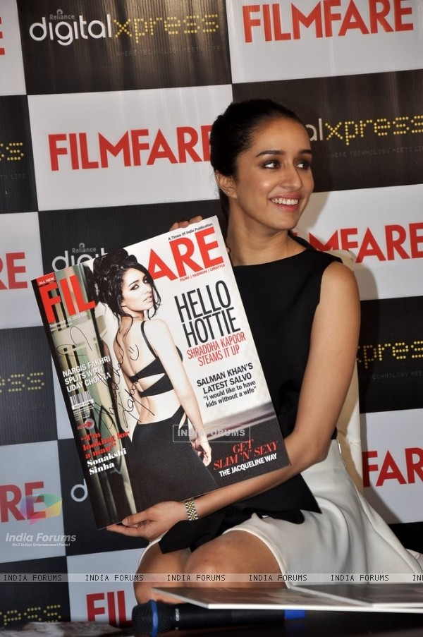 Shraddha Kapoor poses with the Latest Filmfare Issue