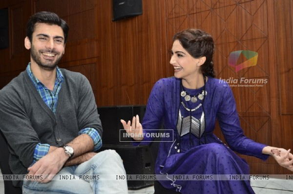 Sonam Kapoor and Fawad Khan share a of laugh at the Promotions of Khoobsurat