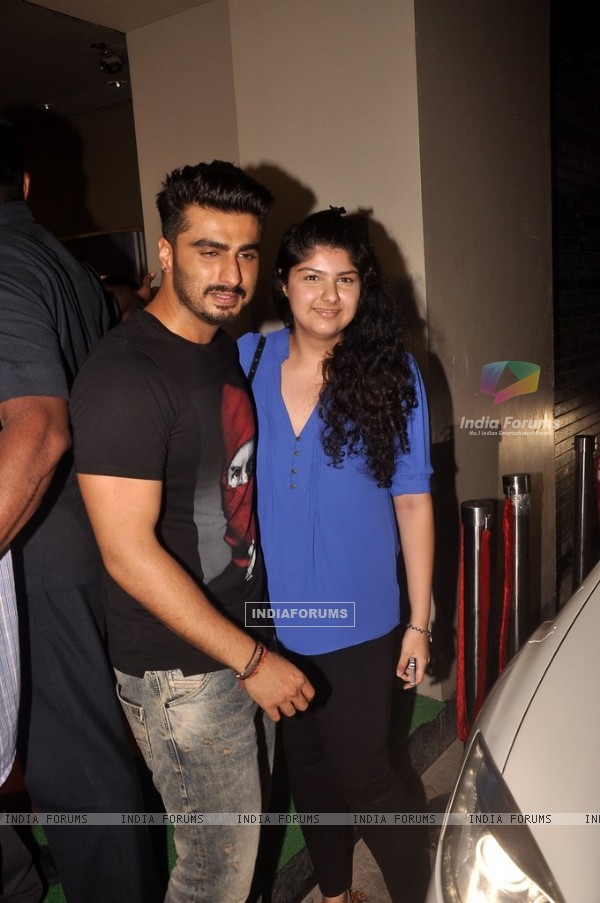 Arjun Kapoor with his sister Anshula at the Special Screening of Finding Fanny