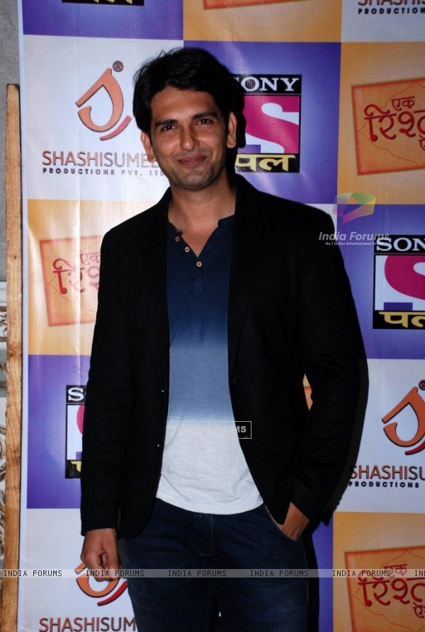 Rahul Sharma poses for the media at the Press Meet of Ek Rishta Aisa Bhi