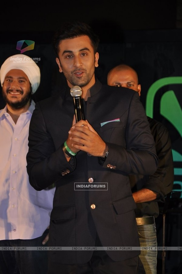 Ranbir Kapoor at the Success Bash of Saavn Mobile App