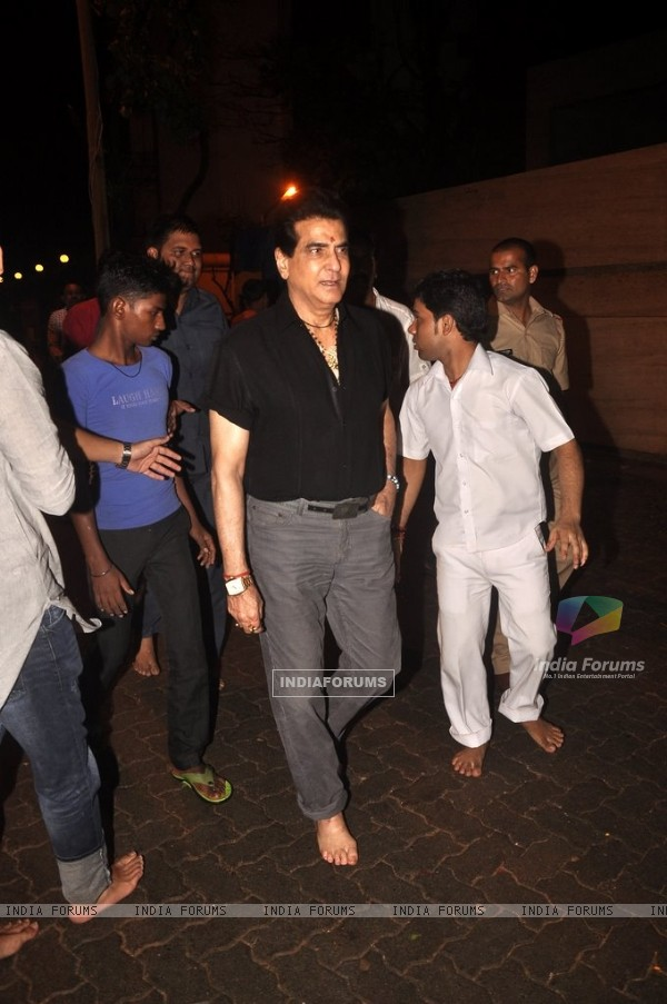 Jeetendra snapped at Ganpati Visarjan