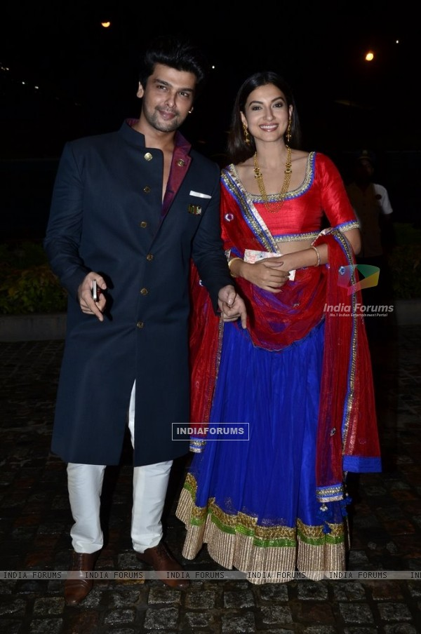 Kushal Tandon and Gauahar Khan were seen at Nikitan Dheer and Kratika Sengar's Wedding Reception
