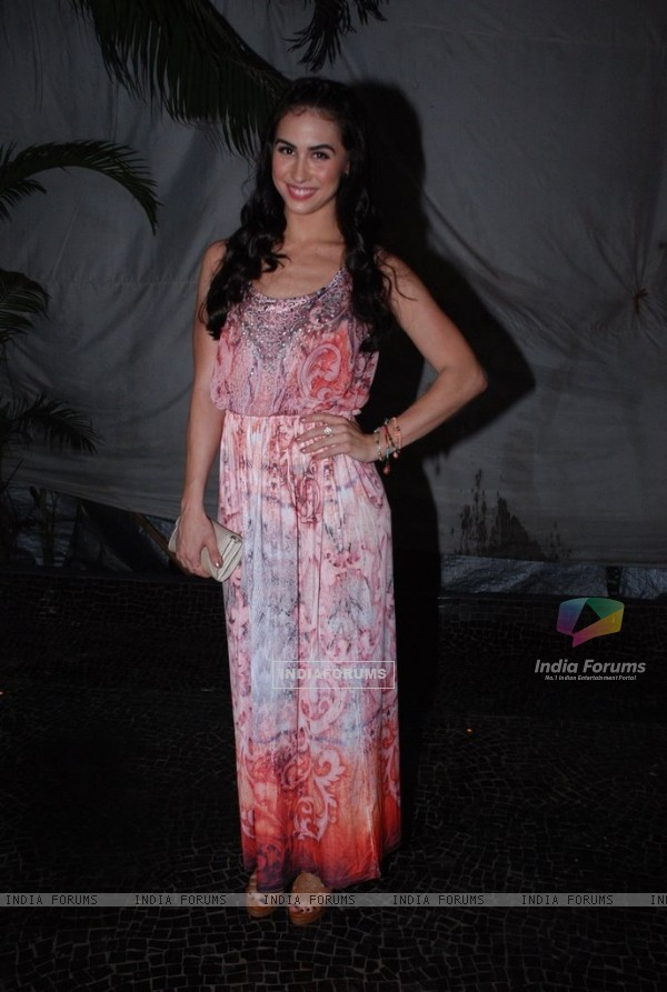 Lauren Gottlieb poses for the media at the Sun Down Party of Sony Pal's Simply Baatein