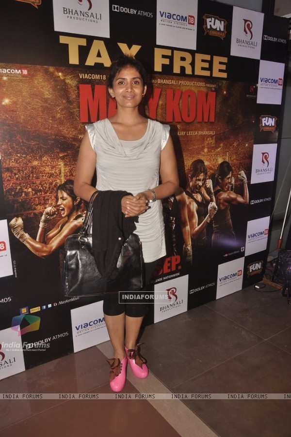 Sonali Kulkarni at the Special Screening of Mary Kom