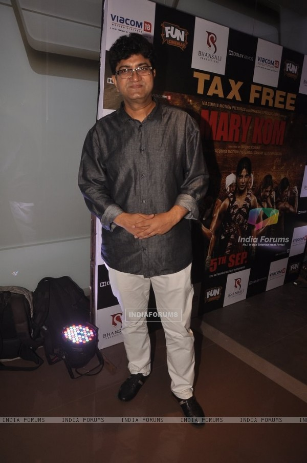 Prasoon Joshi at the Special Screening of Mary Kom