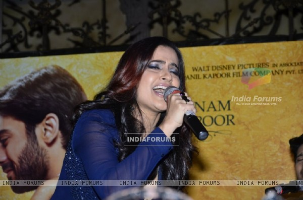 Sona Mohapatra sings at the Music Launch of Khoobsurat