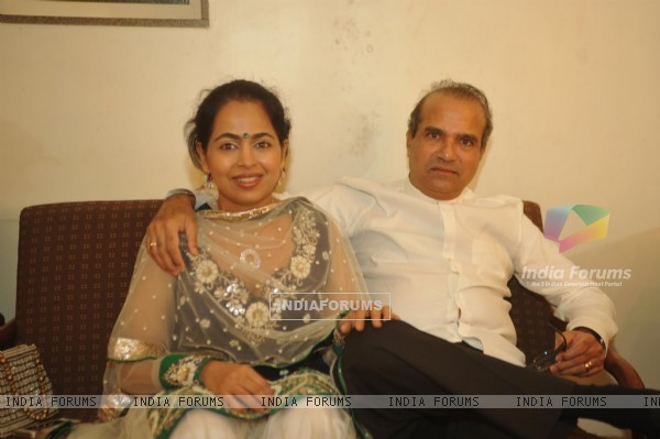 Suresh Wadkar with his wife at Musical Concert