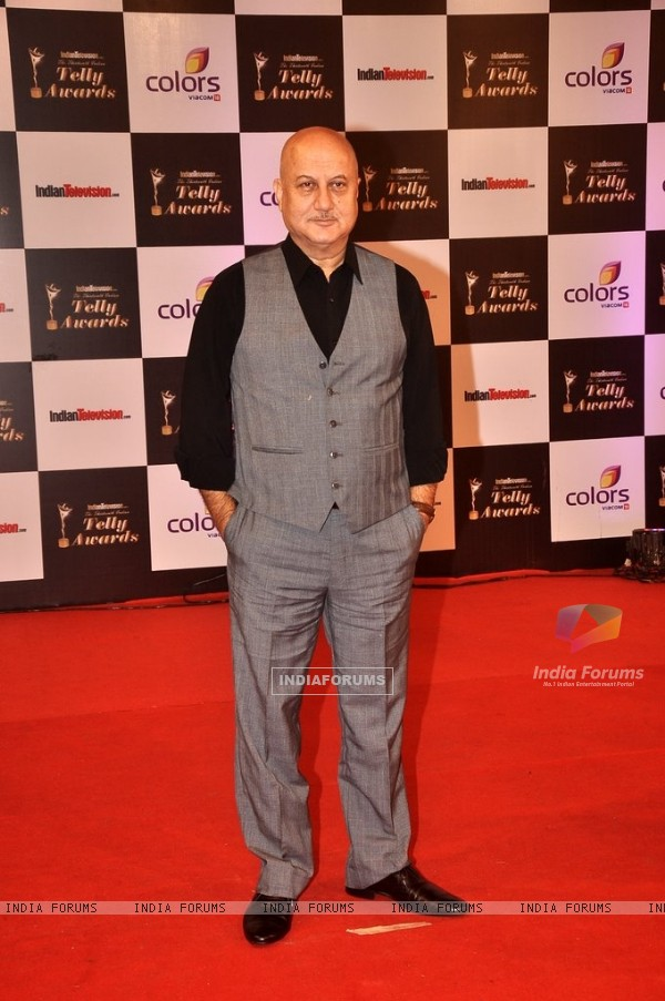 Anupam Kher at the Indian Telly Awards
