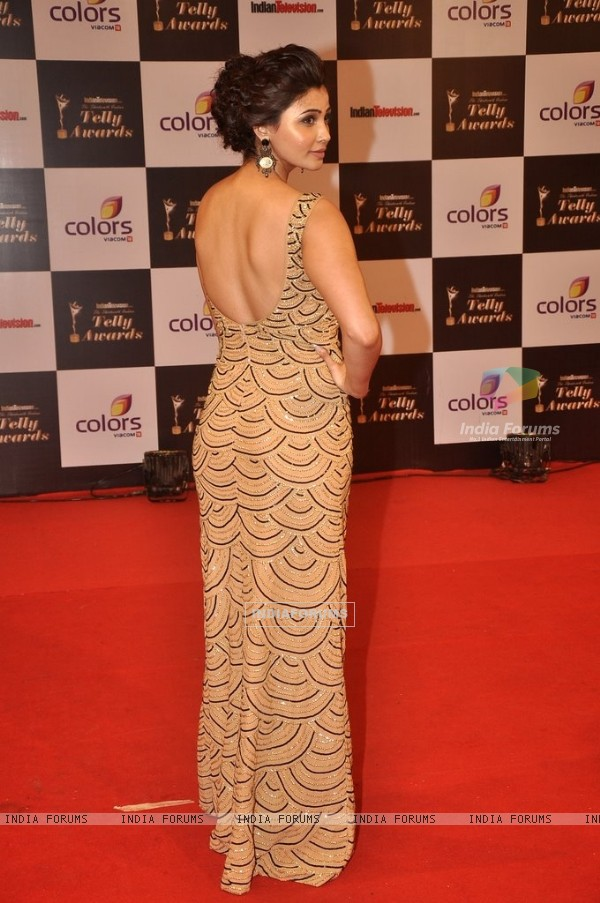 Daisy Shah was seen at the Indian Telly Awards