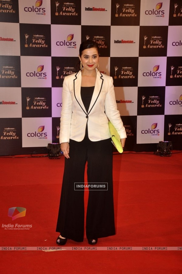 Simone Singh was seen at the Indian Telly Awards